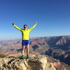Running the Grand Canyon Rim